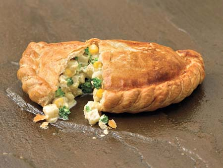 Crantock Bakery: Broccoli sweetcorn pasty
