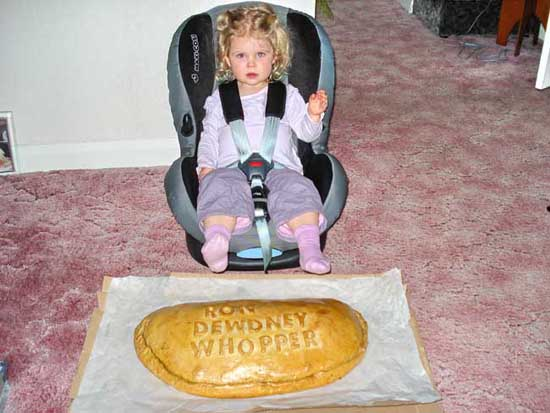 Young Anna with a Ron Dewdney Whopper pasty