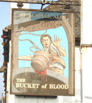 Bucket of Blood sign