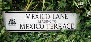 Mexico Lane road sign