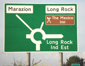 Long Rock road sign - I