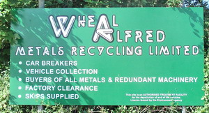 Wheal Alfred Recycling sign