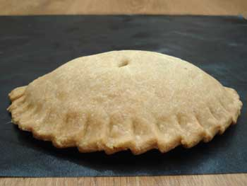 View of the crust made by the crimper